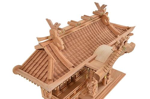 本欅 入母屋型 三社 小屋根4
