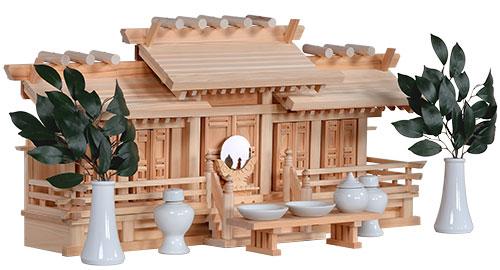 桧五社唐戸36㎝神具付き 斜め2