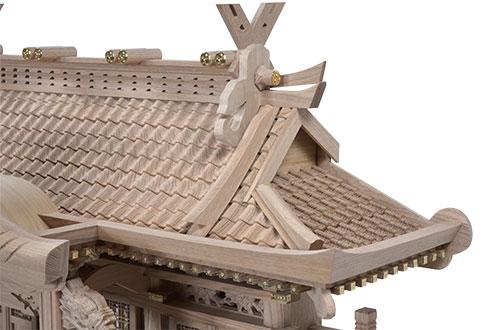 タモ入母屋(中)屋根1