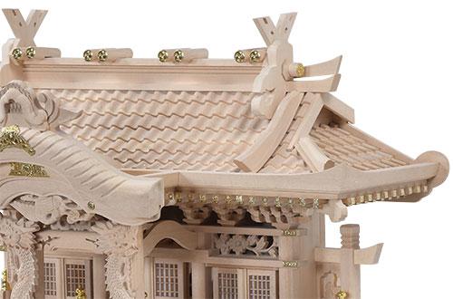 白木入母屋(小)屋根2