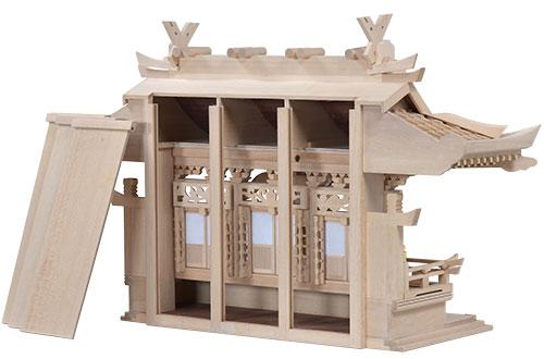 白木入母屋(小)背板1