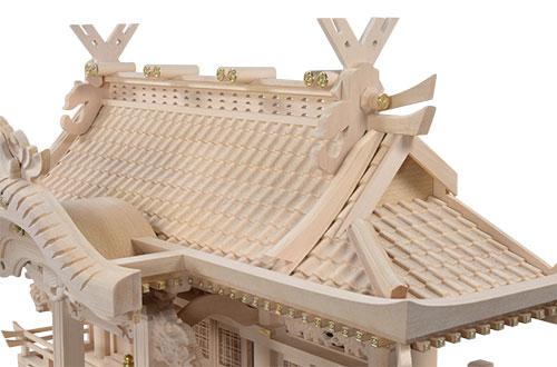 白木入母屋(中)屋根1